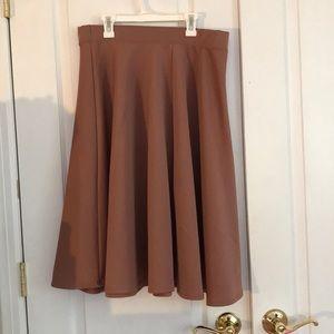 Dark Pink A-Line Skirt